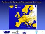 parties to the european pharmacopeia convention