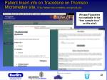 patient insert info on trazodone on thomson micromedex site http www micromedex com products