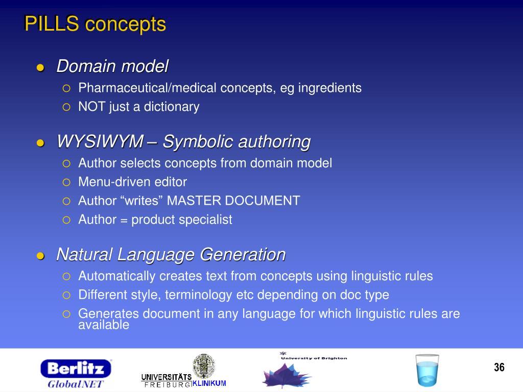 PILLS concepts