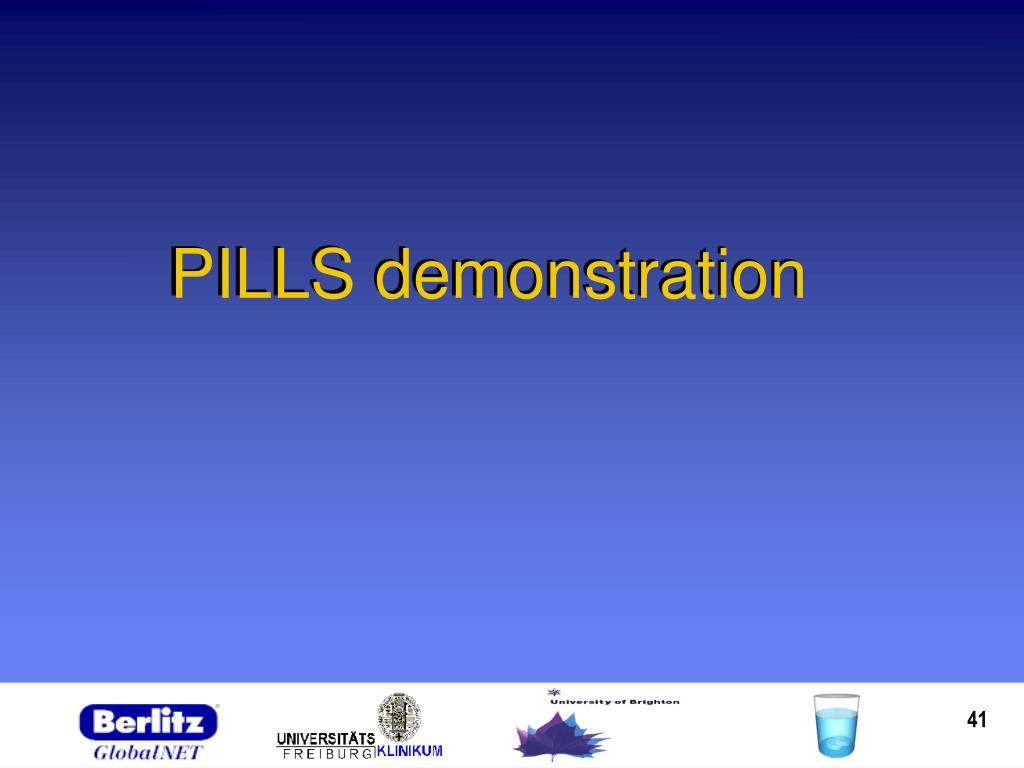 PILLS demonstration