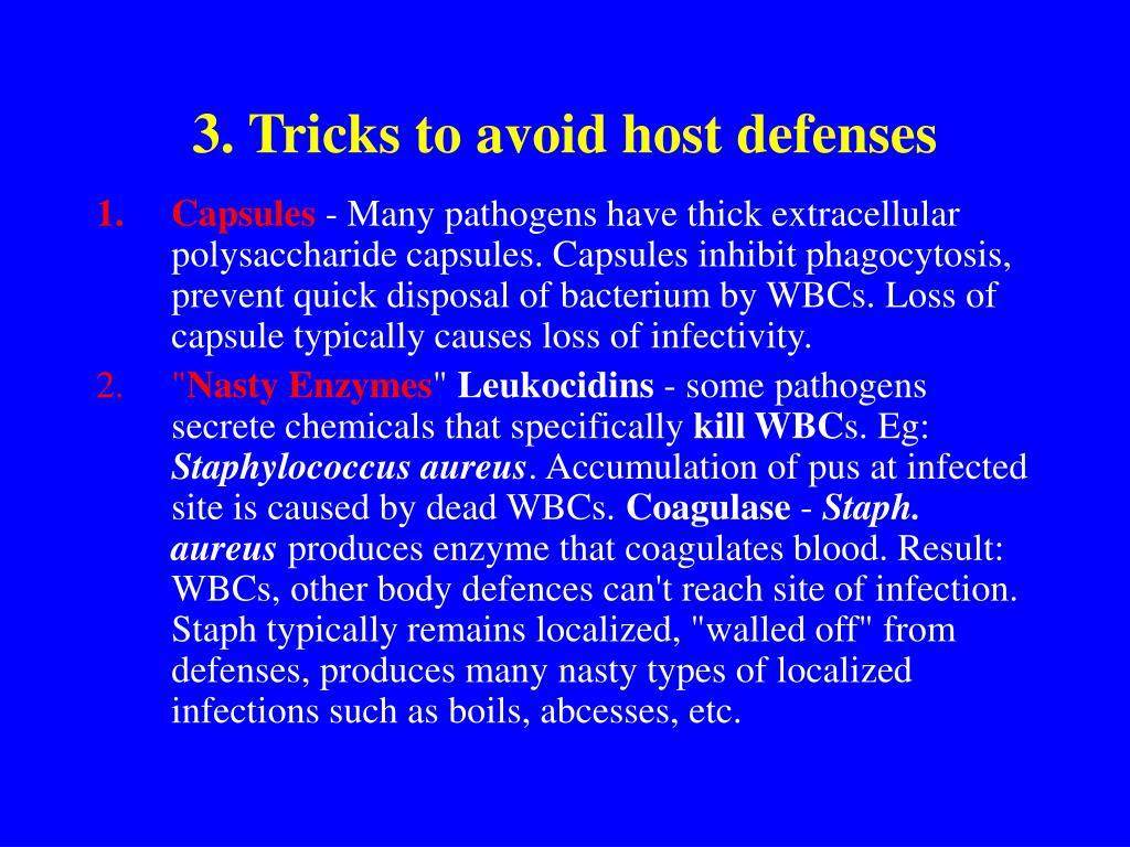 3. Tricks to avoid host defenses