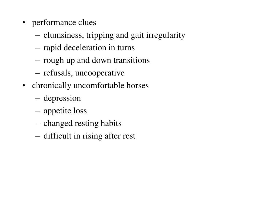 performance clues