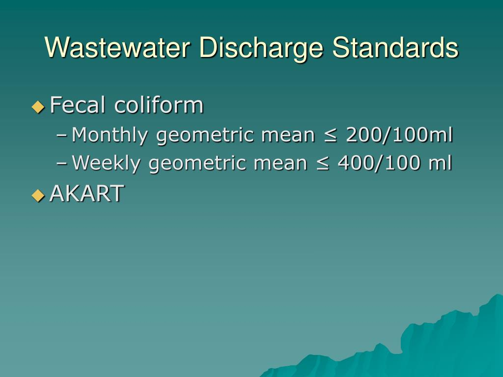 Wastewater Discharge Standards