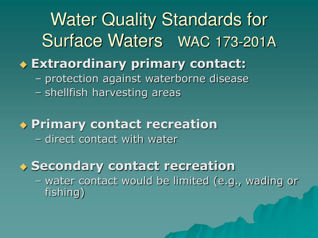 Water Quality Standards for Surface Waters