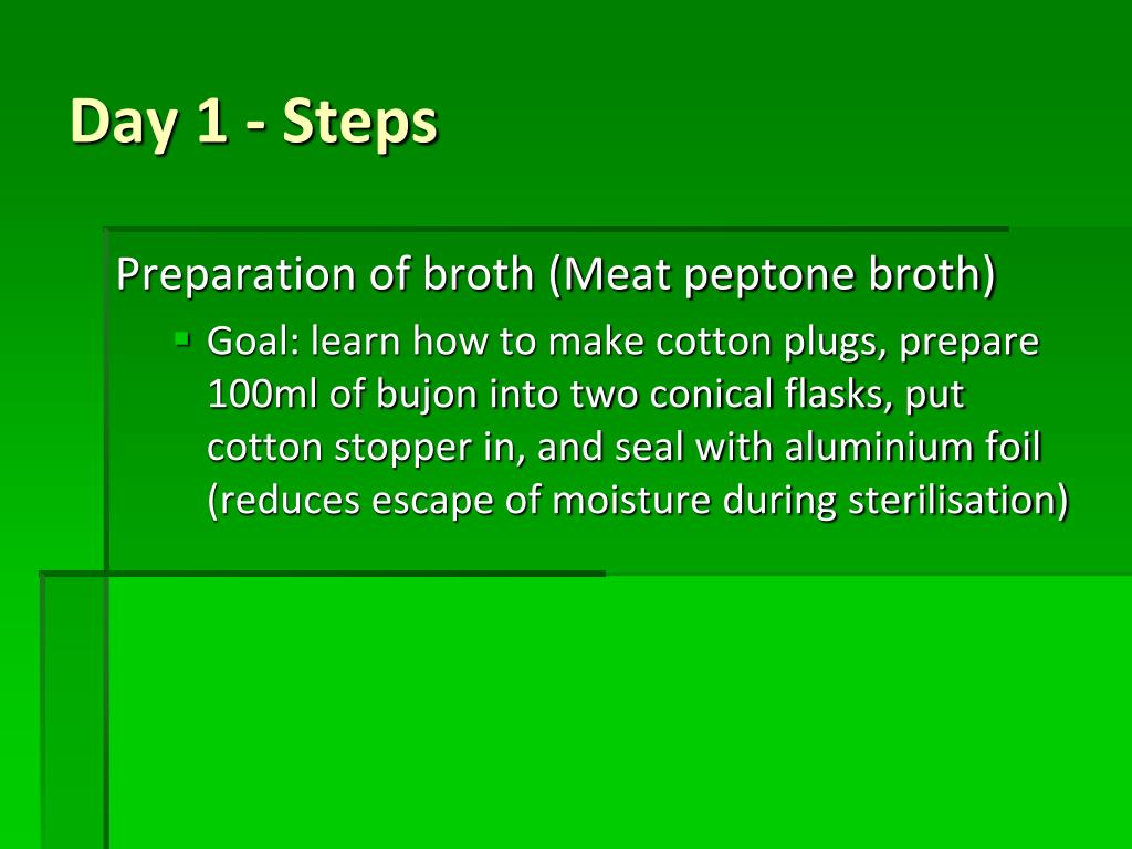 Preparation of broth (Meat peptone broth)