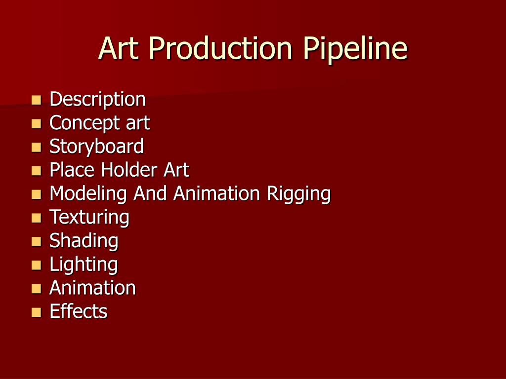 Art Production Pipeline
