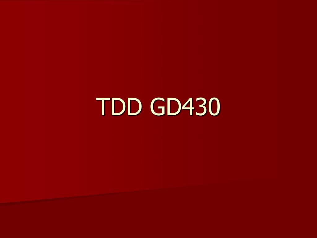 TDD GD430