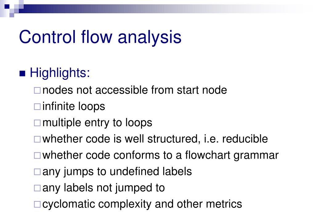 Control flow analysis