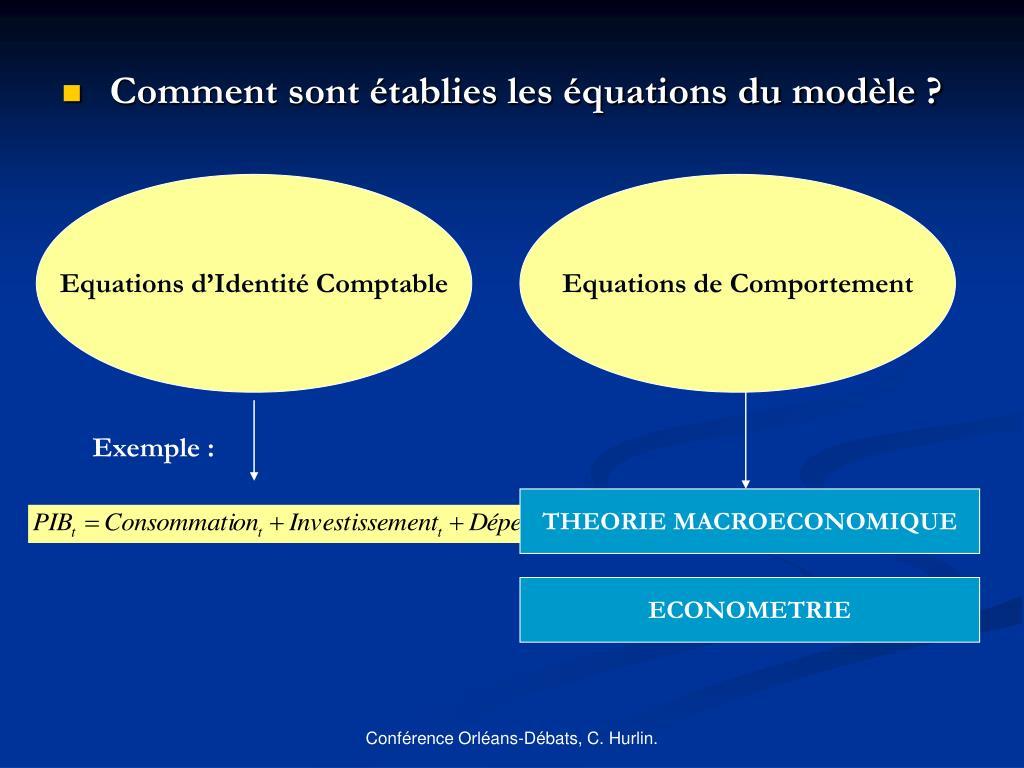 Equations d'Identité Comptable