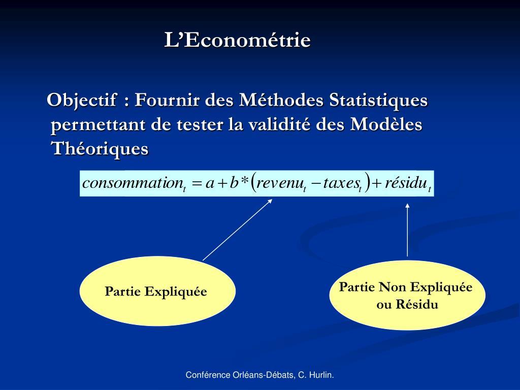 L'Econométrie