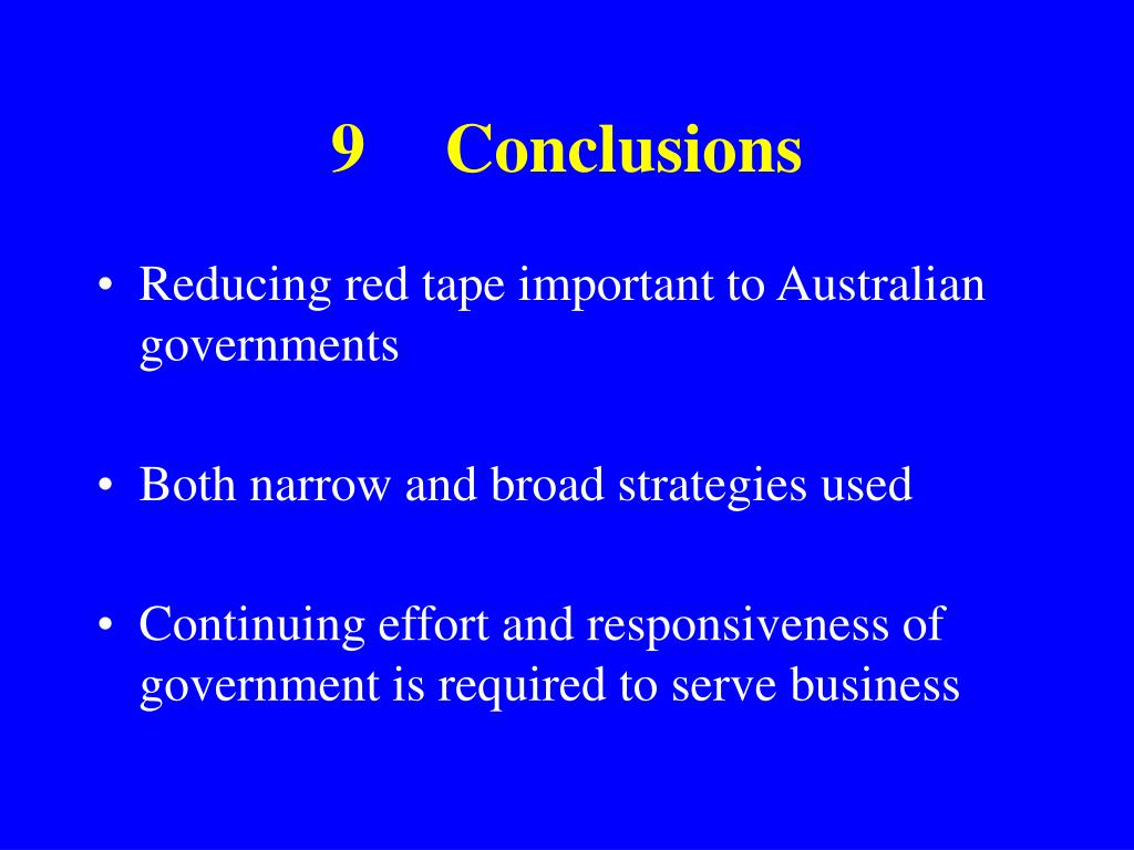 9Conclusions
