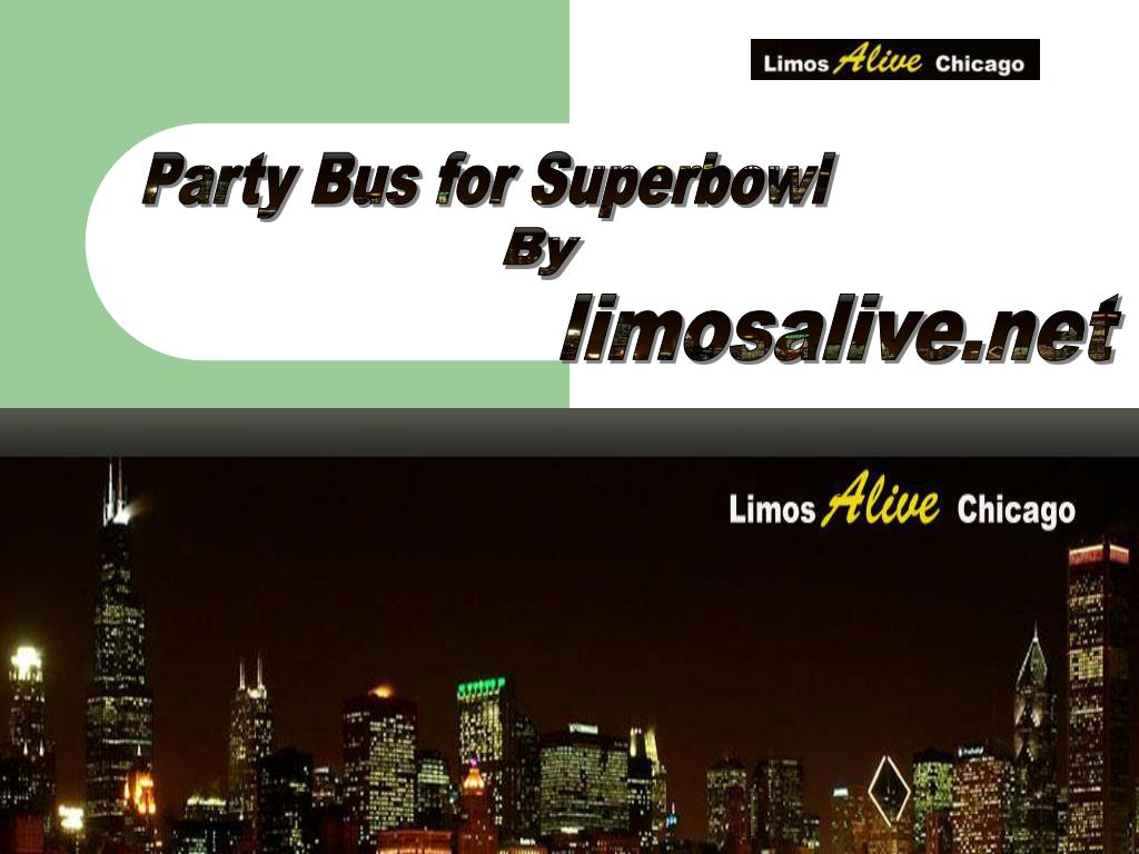 Party Bus for Superbowl