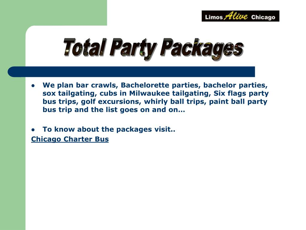 Total Party Packages