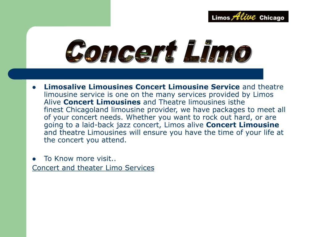 Concert Limo