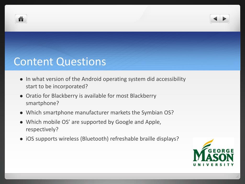 Content Questions