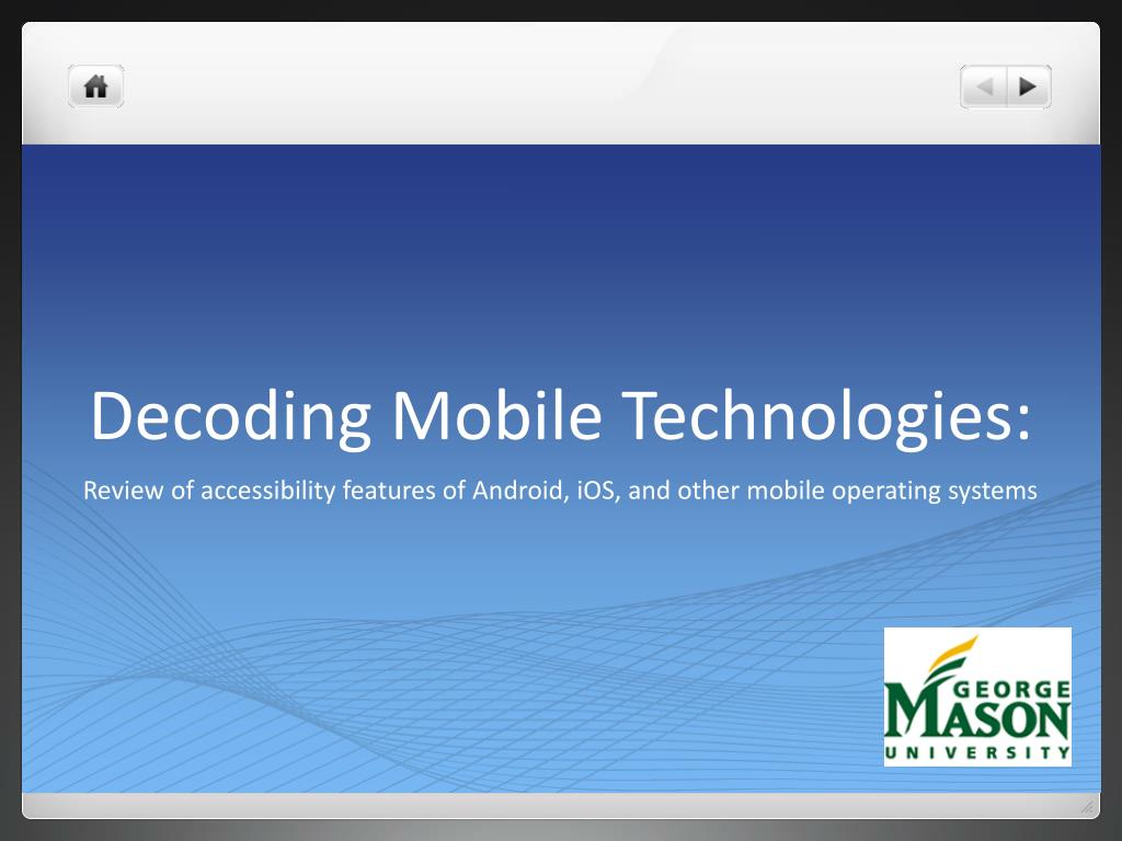 Decoding Mobile Technologies: