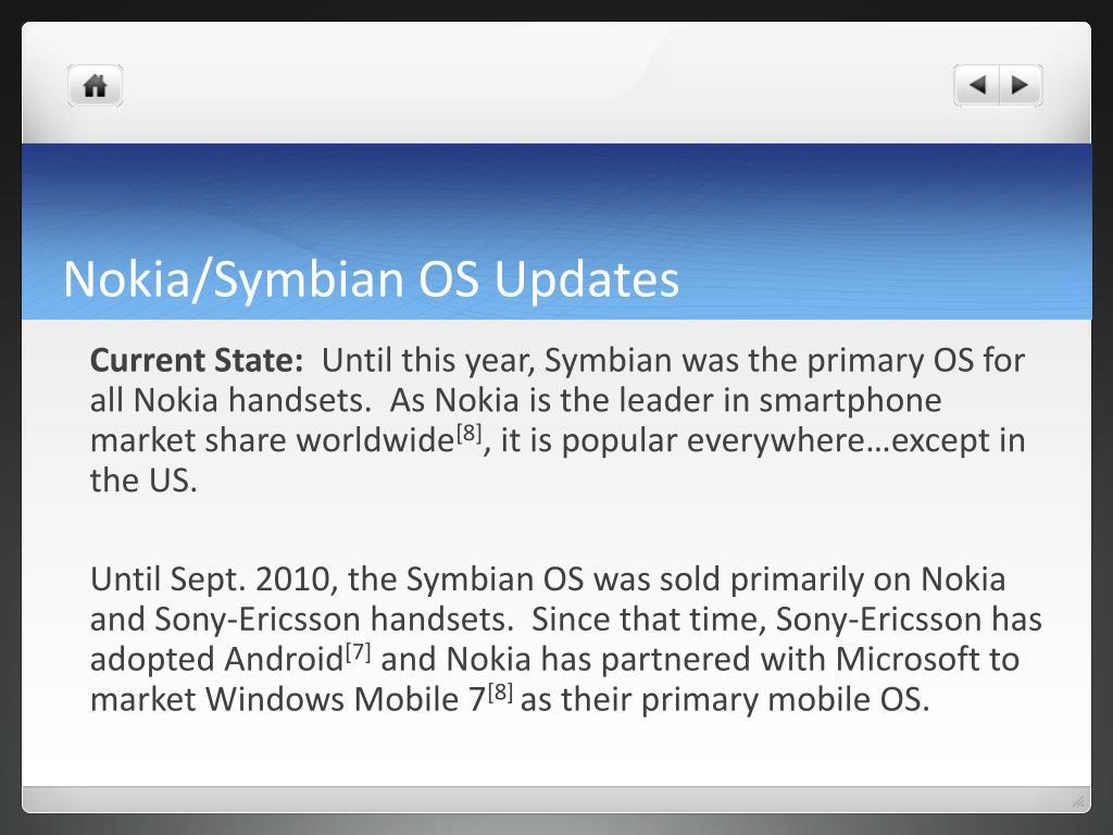 Nokia/Symbian OS Updates