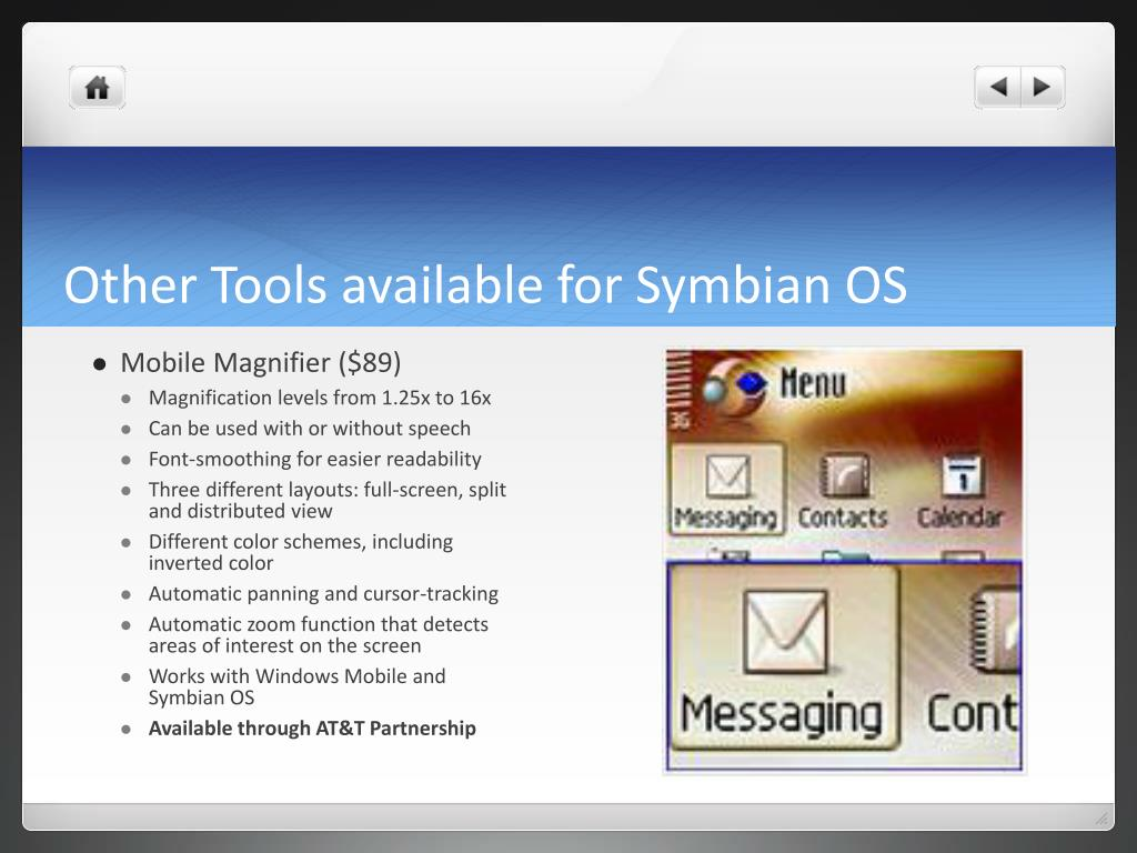 Other Tools available for Symbian OS