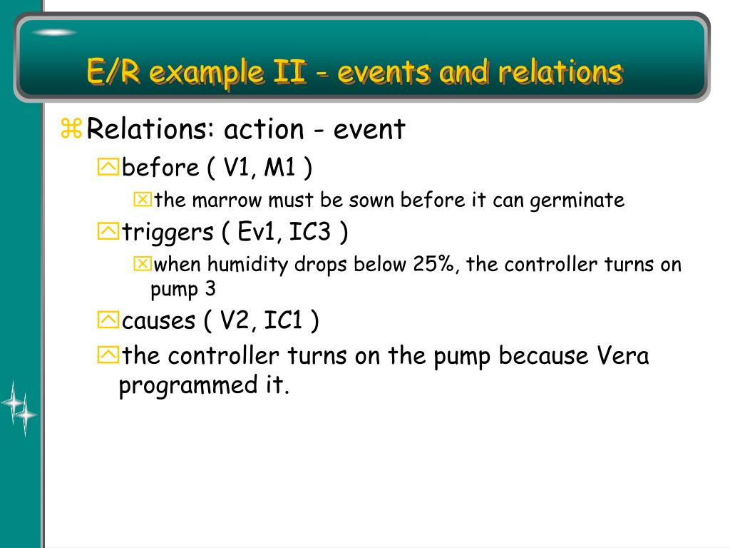 E/R example II - events and relations