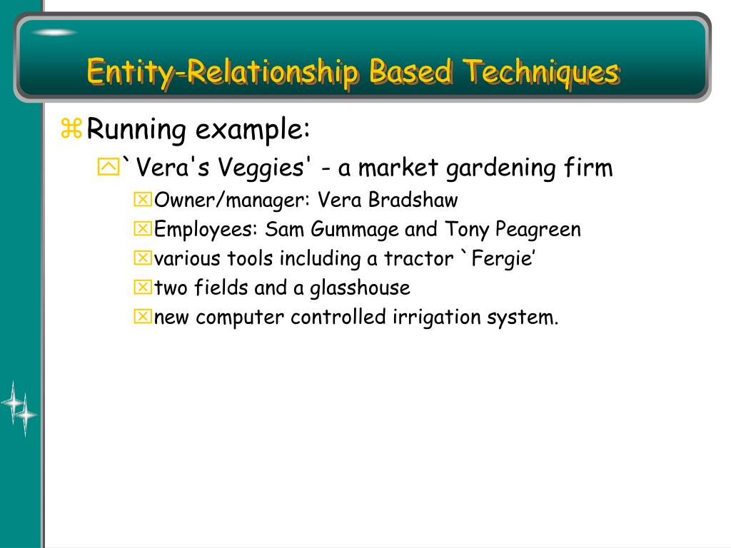 Entity-Relationship Based Techniques