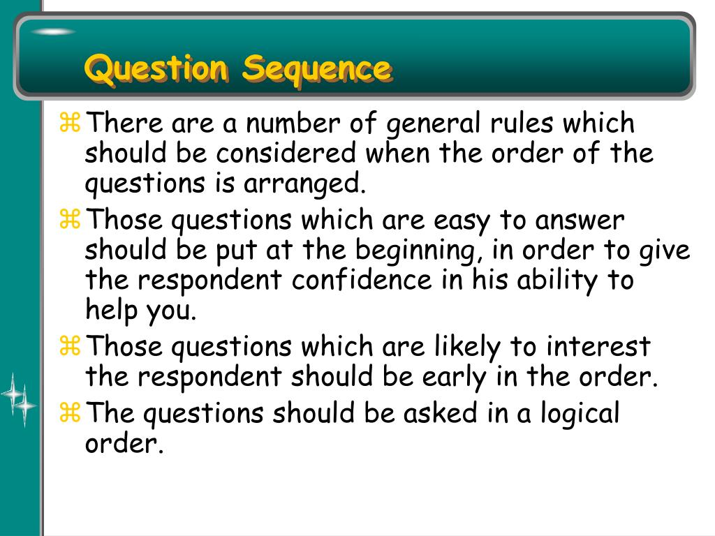 Question Sequence