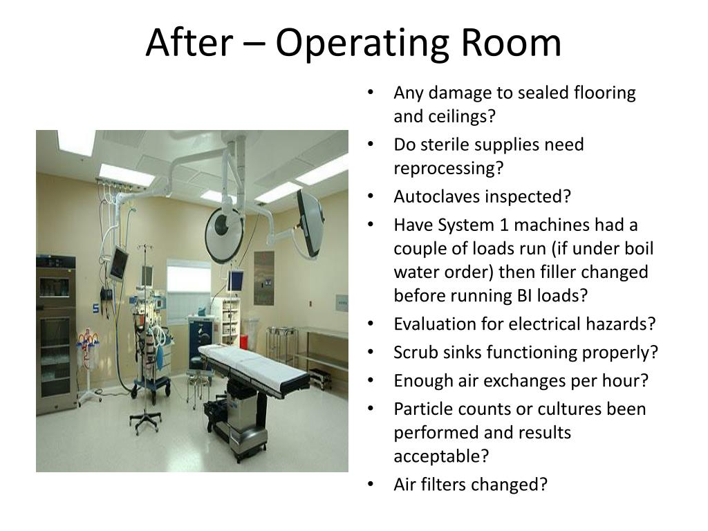 After – Operating Room