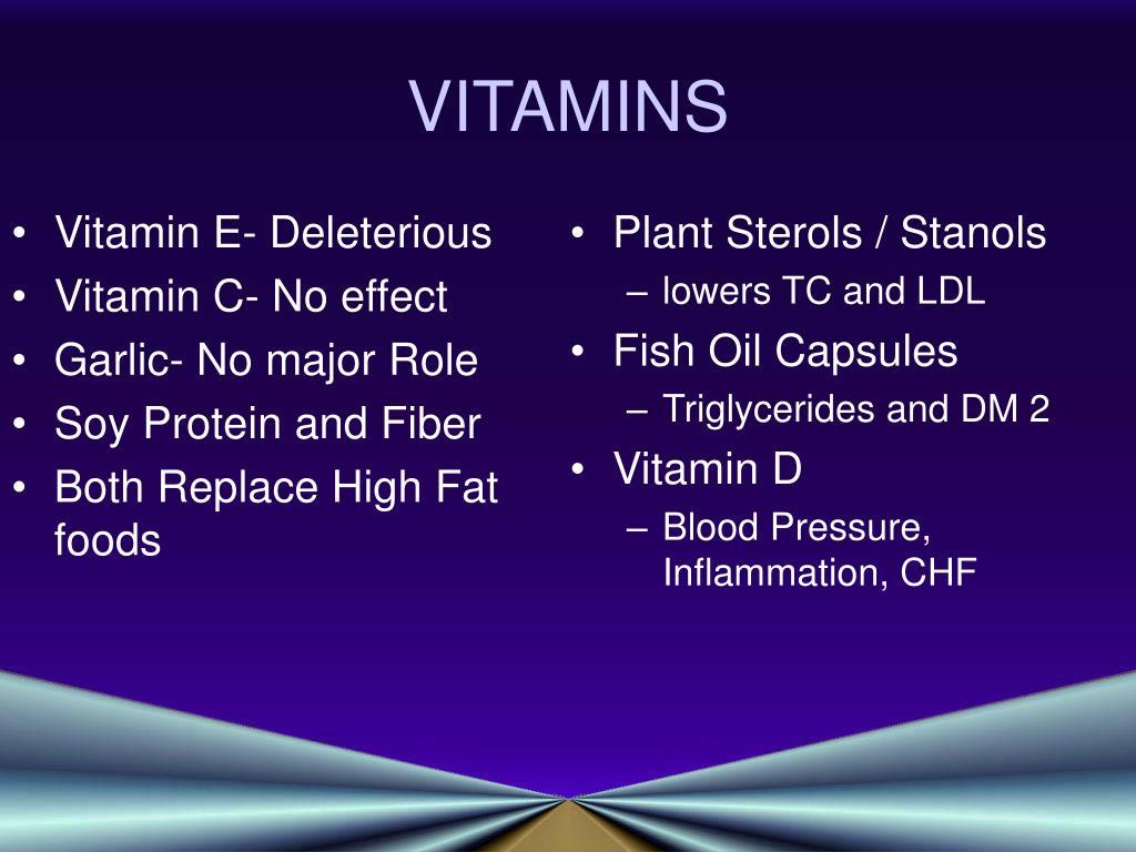 Vitamin E- Deleterious