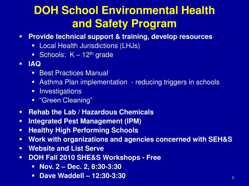 DOH School Environmental Health