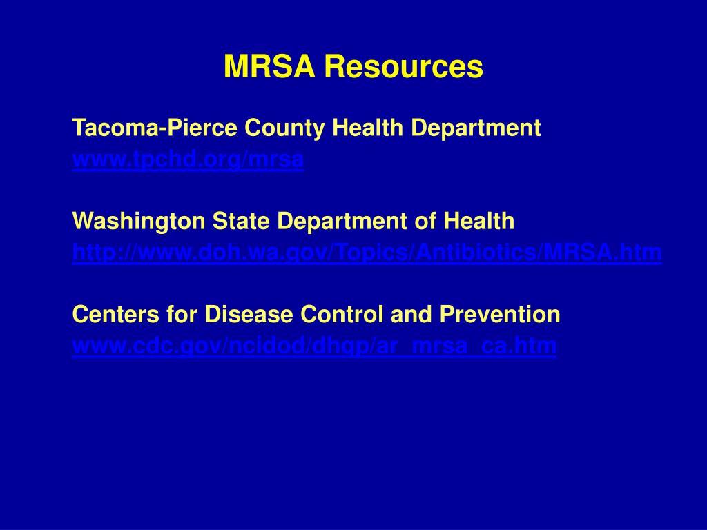 MRSA Resources