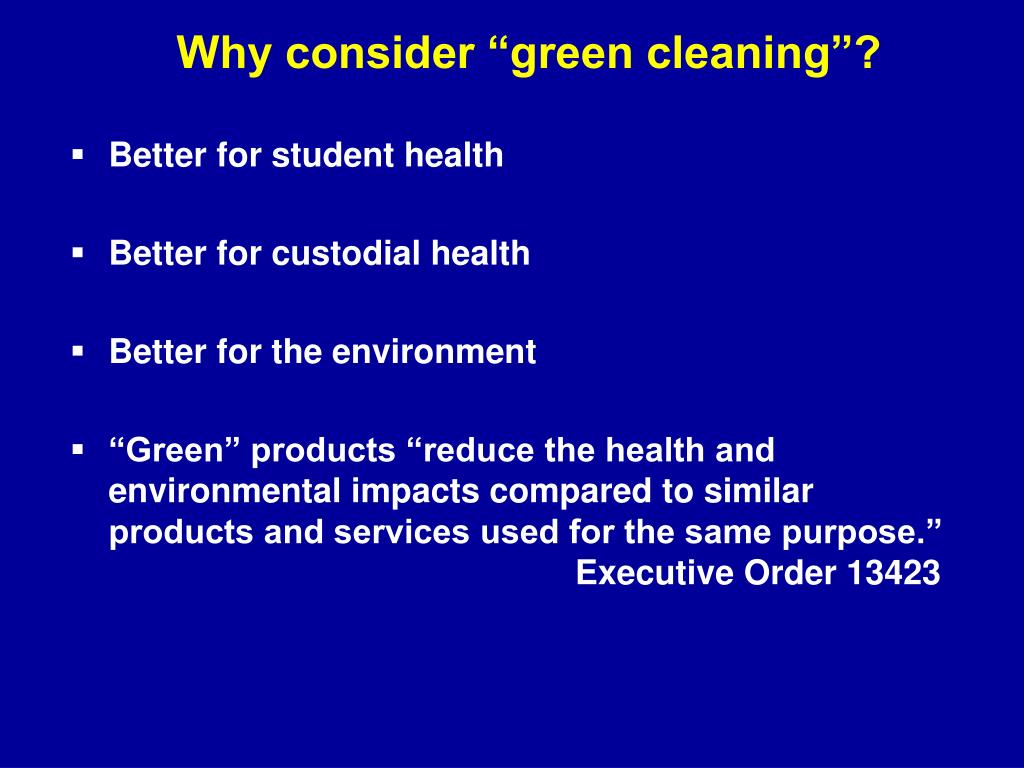 """Why consider """"green cleaning""""?"""