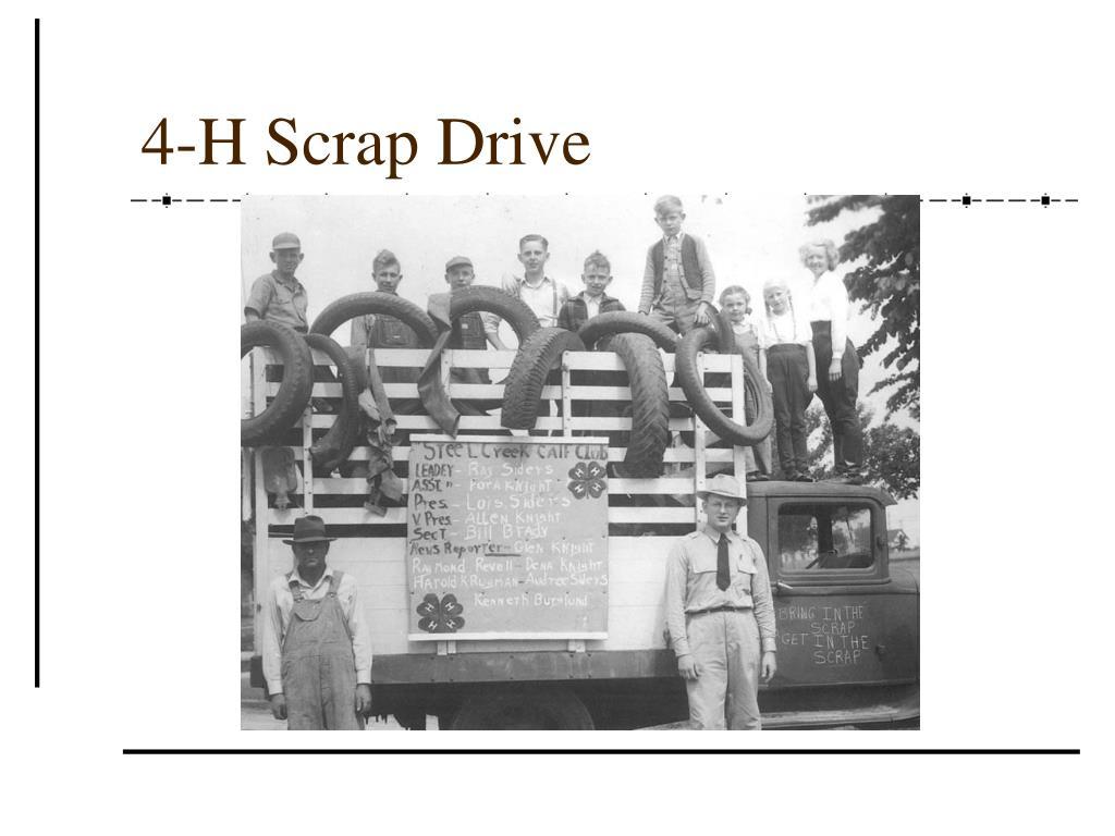 4-H Scrap Drive