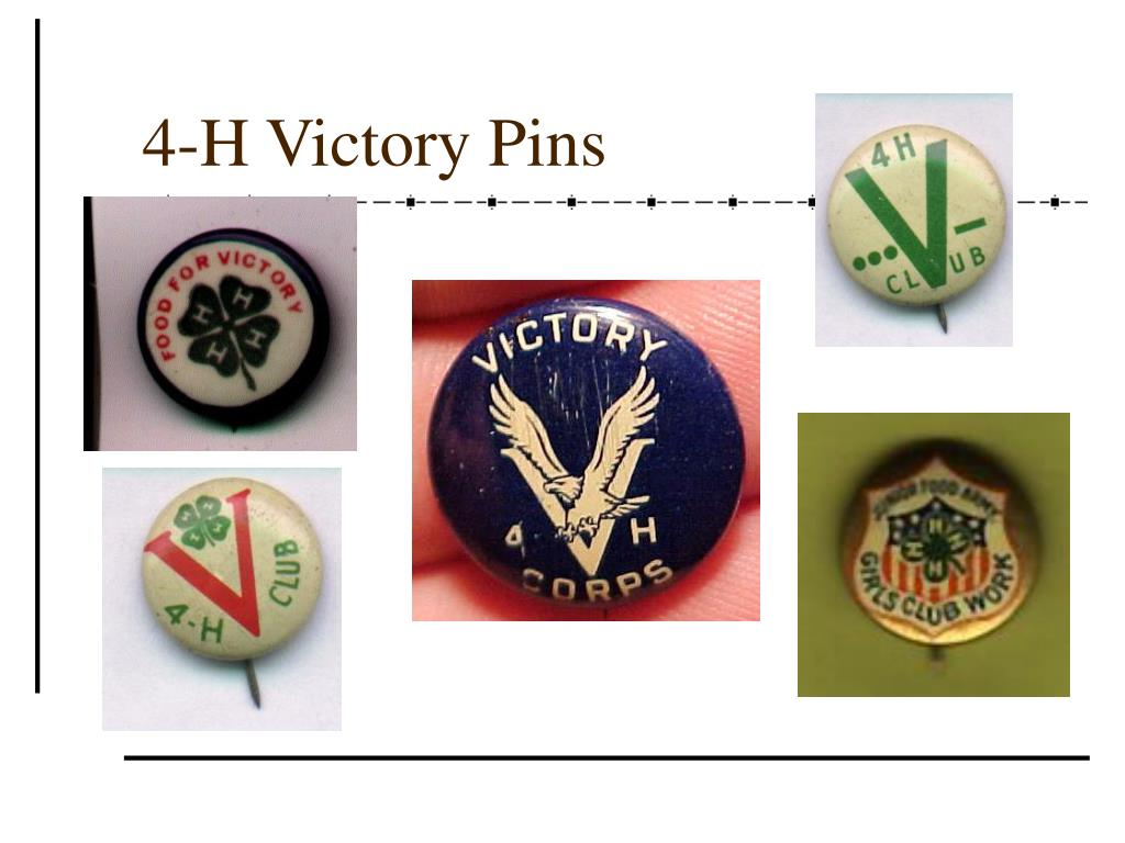4-H Victory Pins
