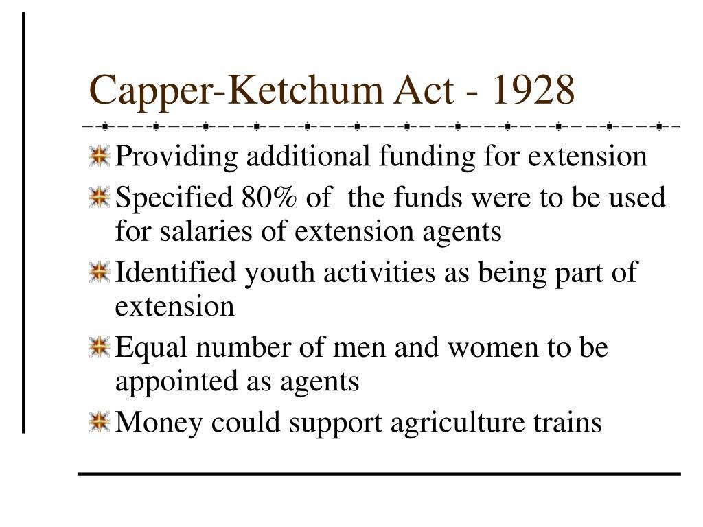 Capper-Ketchum Act - 1928