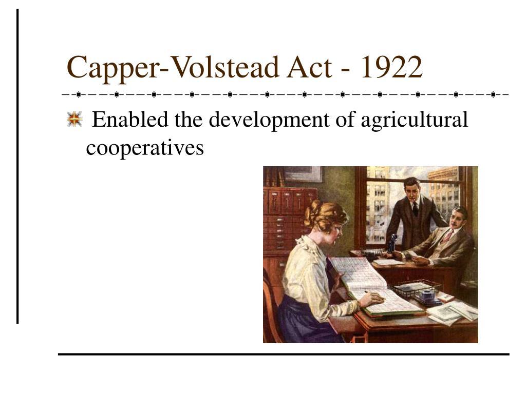 Capper-Volstead Act - 1922