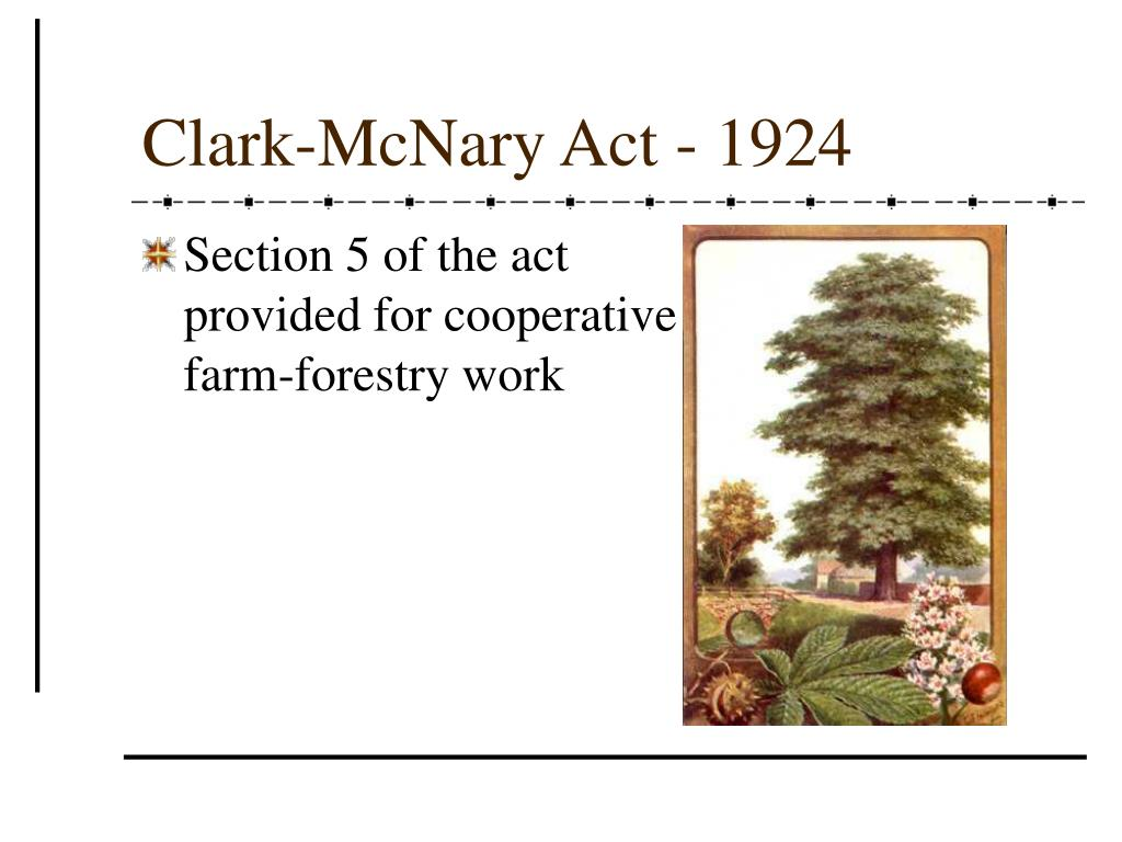 Clark-McNary Act - 1924