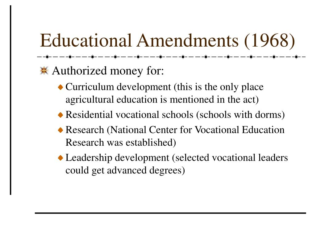 Educational Amendments (1968)