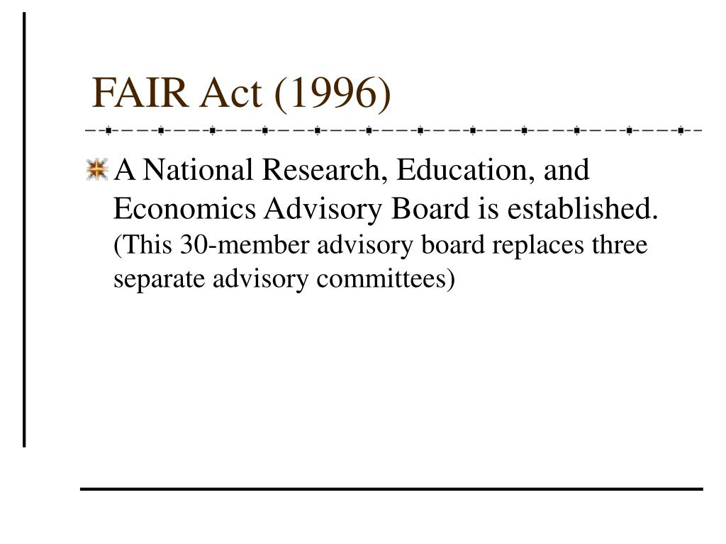 FAIR Act (1996)