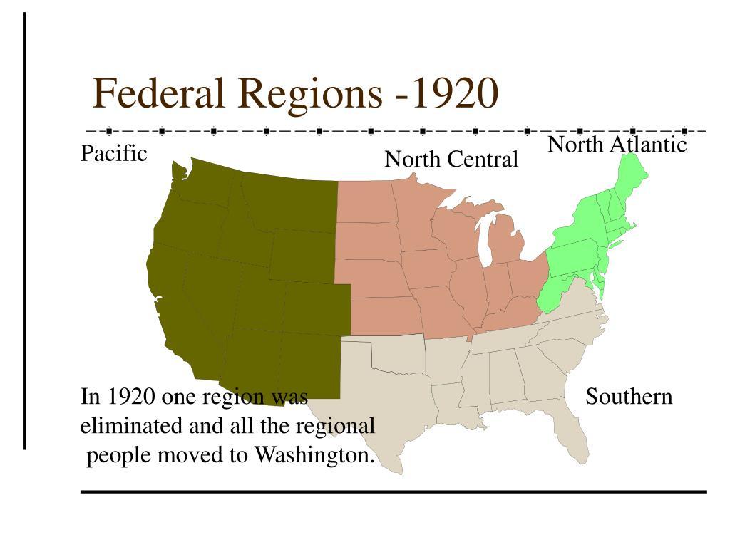 Federal Regions -1920