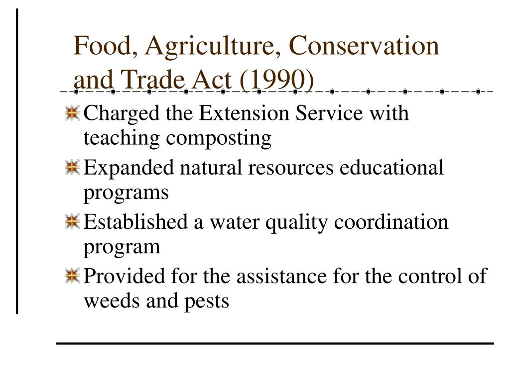 Food, Agriculture, Conservation and Trade Act (1990)