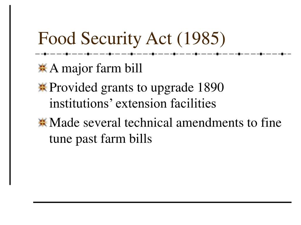 Food Security Act (1985)