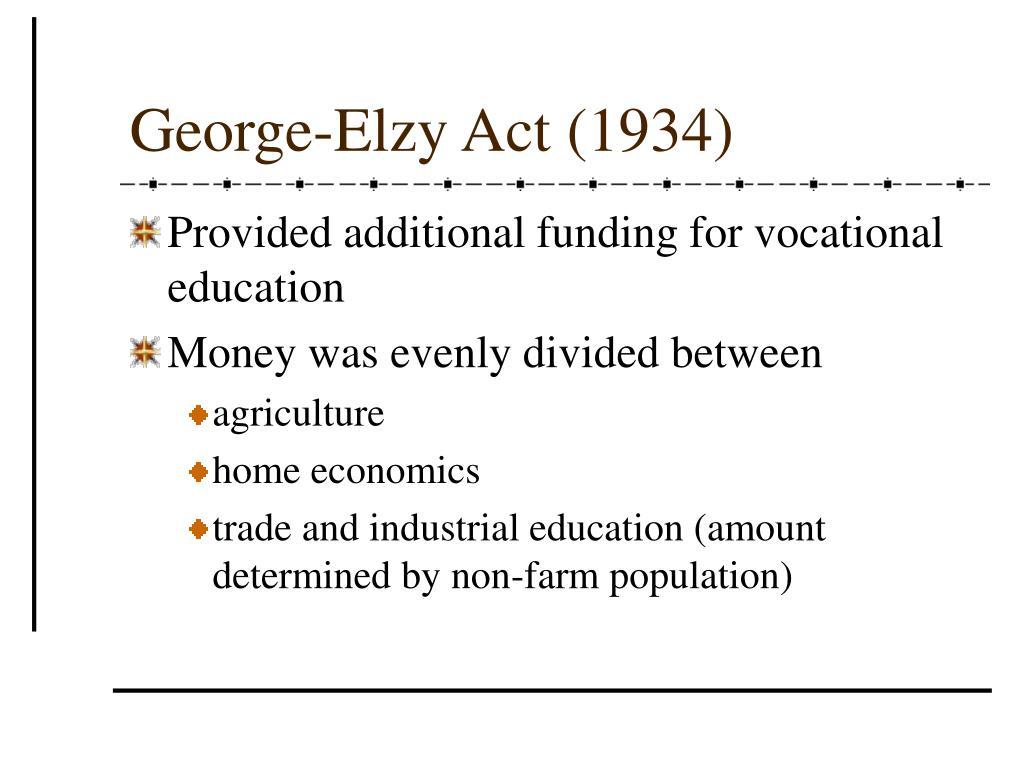 George-Elzy Act (1934)