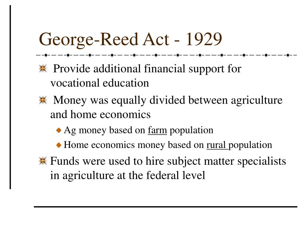 George-Reed Act - 1929