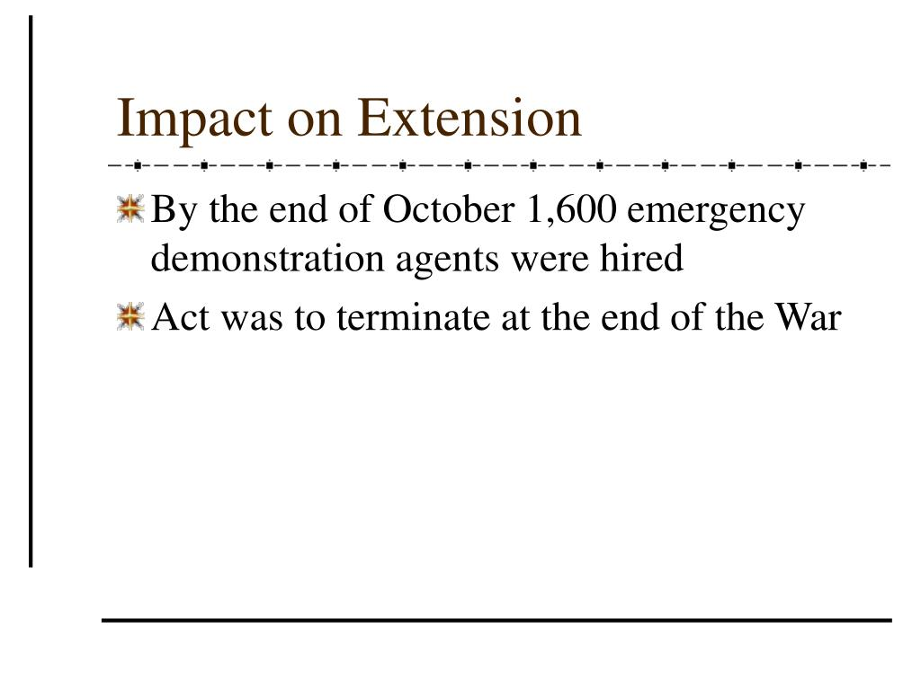 Impact on Extension