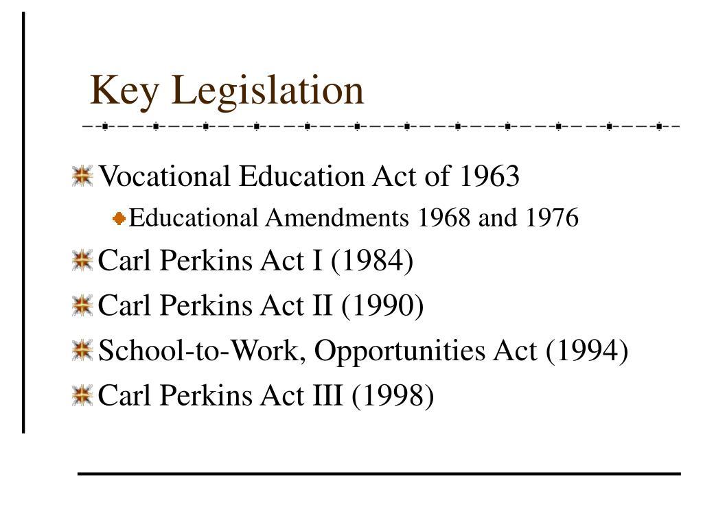 Key Legislation