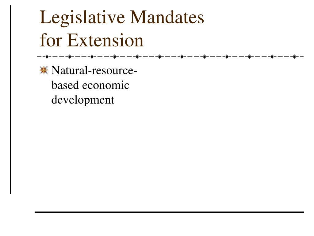 Natural-resource-based economic development