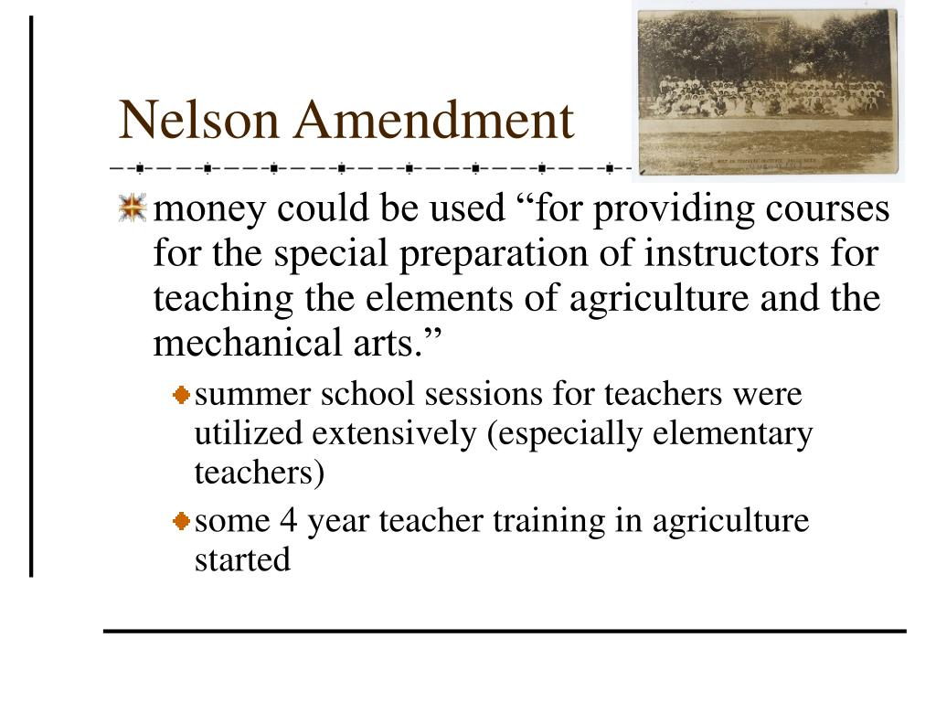 Nelson Amendment