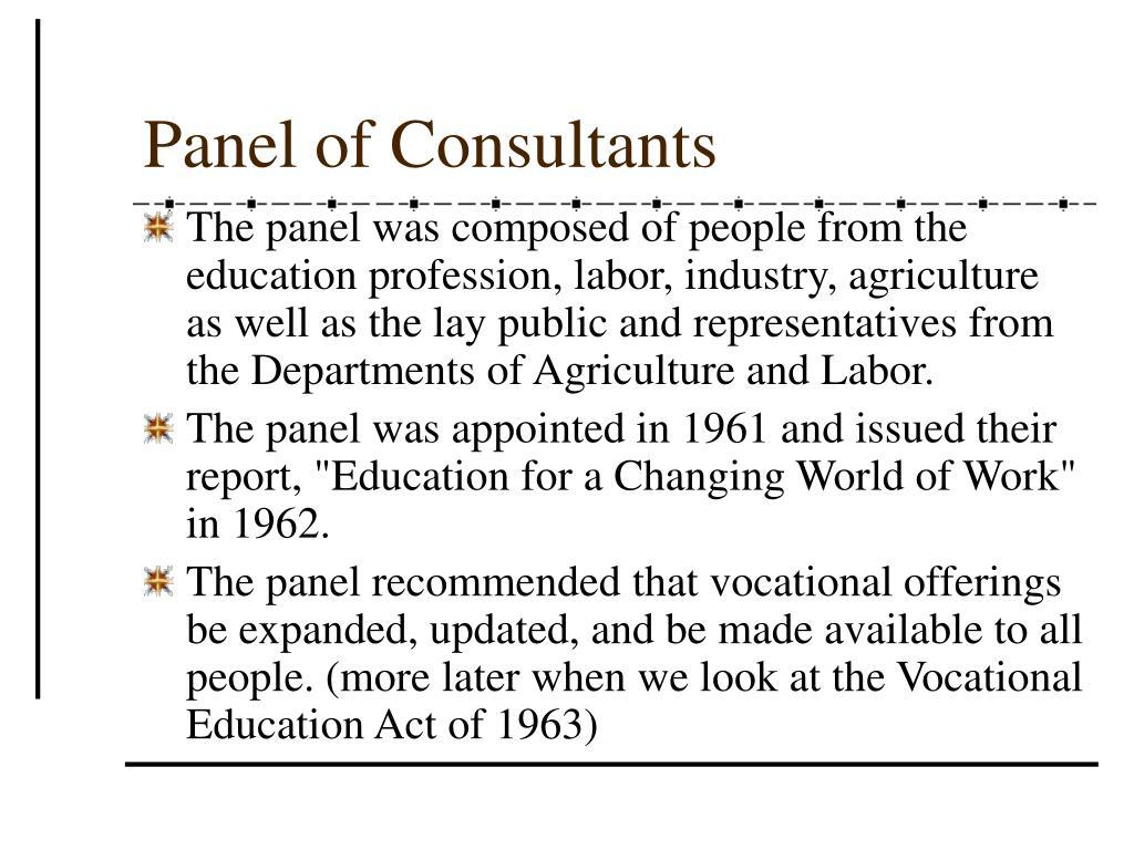 Panel of Consultants