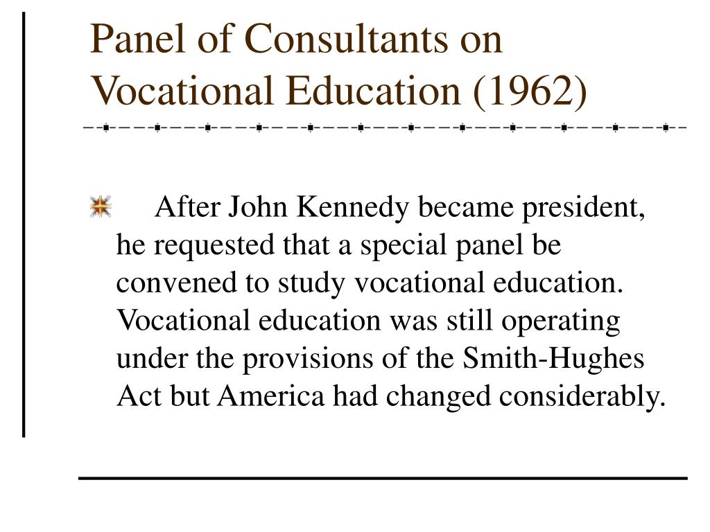 Panel of Consultants on Vocational Education (1962)