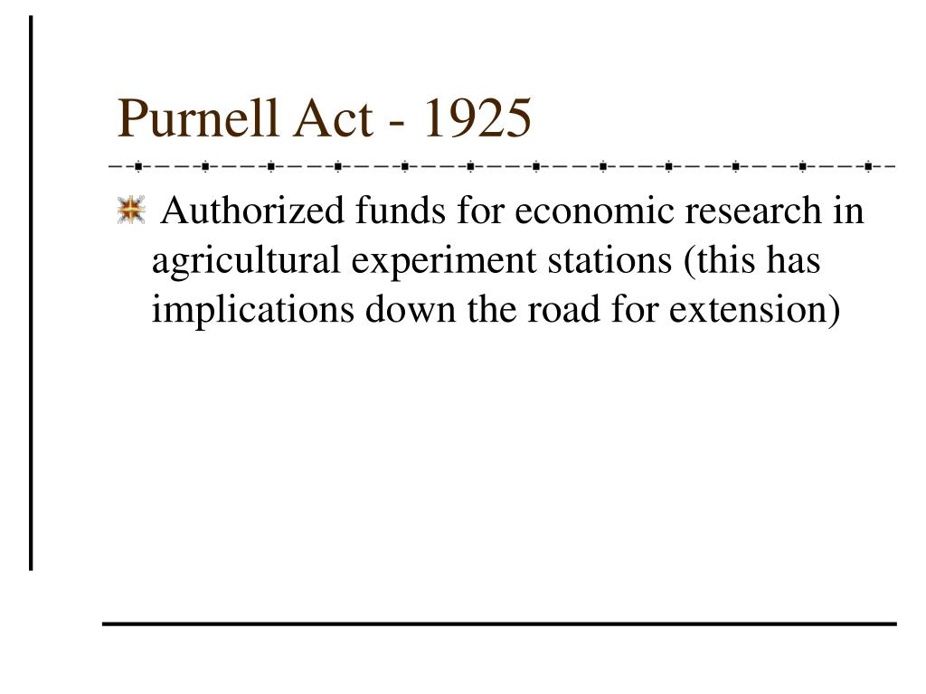 Purnell Act - 1925
