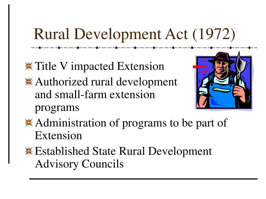 Rural Development Act (1972)